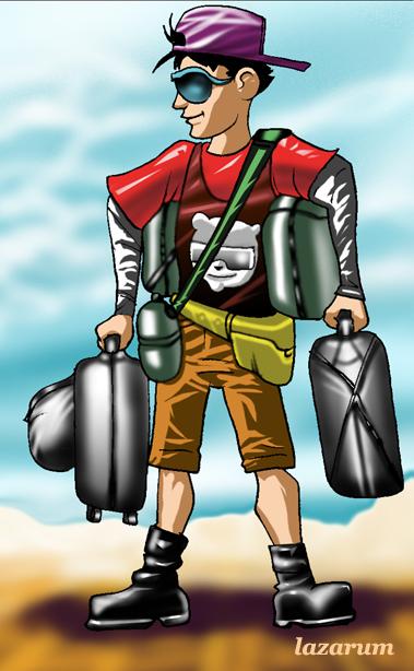 Montese con valigia
