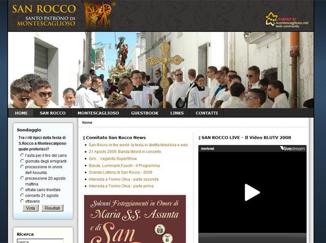 Anteprima sito www.sanrocco.montescaglioso.net