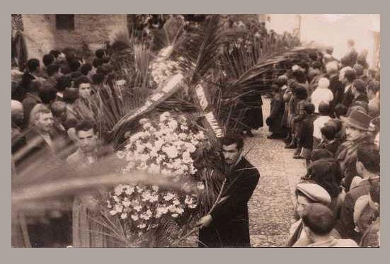 Montescaglioso, dicembre 1949, funerali di Giuseppe Novello