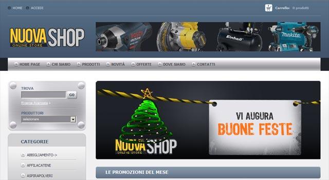 Anteprima sito www.nuovashop.com