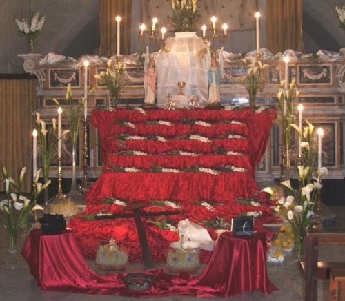 S. Agostino: sepolcro del Giovedì Santo