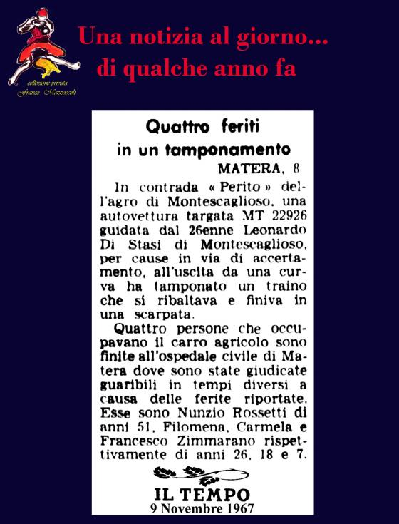 9 NOVEMBRE: INCIDENTE