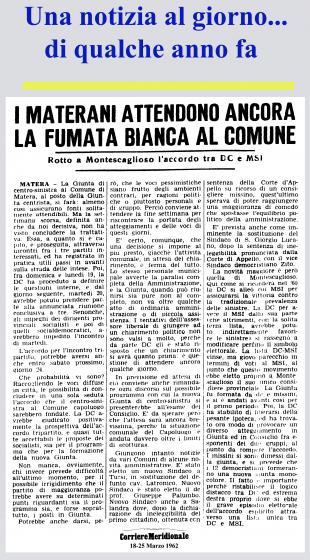 Articoli su Montescaglioso pubblicati negli anni passati su quotidiani e riviste locali e nazionali