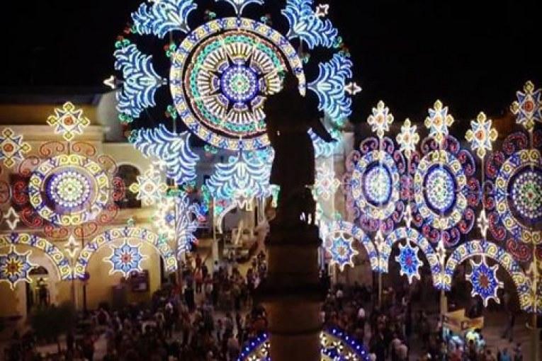 San Rocco 2016. Accensione Luminarie Video