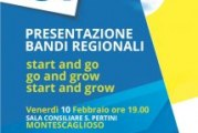"Presentati i bandi regionali  ""Start and go""; ""Go and growth""; ""Start and growth"""