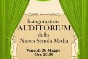 Montescaglioso, inaugurazione auditorium scuola media