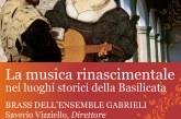 La musica rinascimentale nei luoghi storici della Basilicata