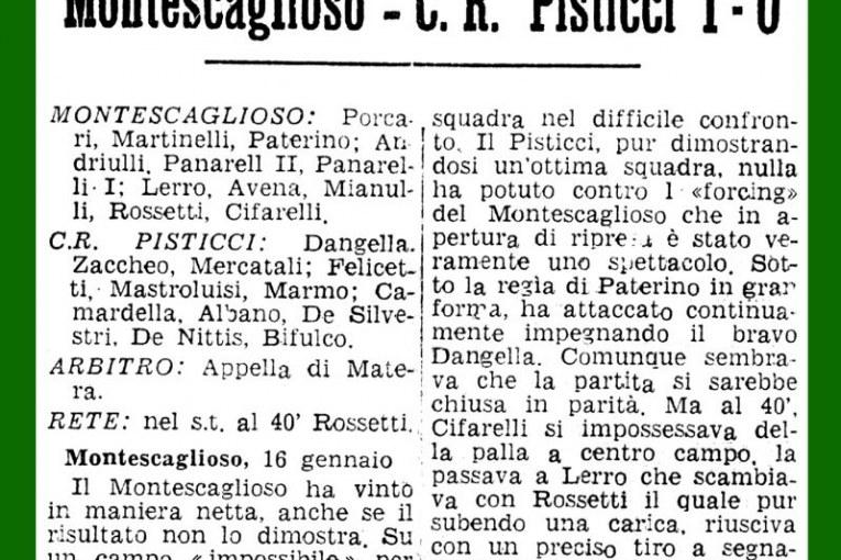 Montescaglioso-Pisticci 1-0