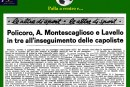Policoro, Montescaglioso, Lavello