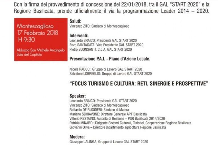 Montescaglioso, Gal Start 2020