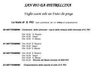 SAN PIO 23 SETTEMBRE Convento Cappuccini