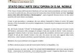 STATO DELL'ARTE DELL'OPERA DI D.M. NOBILE