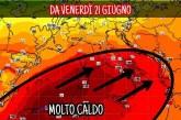 CONFERMATA L'ONDATA DI CALORE DA VENERDÌ, MA NON DURERÀ MOLTO.