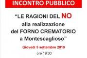 No al Forno Crematorio pubblico incontro