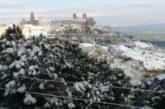 1 aprile 2020 nevicata sulla collina Materana , sorpresa ma nessun problema