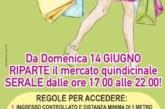 Montescaglioso: da domenica 14 giugno riparte il mercato quindicinale