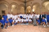 Calcio, Eccellenza: vernissage del Montescaglioso nel chiostro dell'Abbazia di San Michele Arcangelo